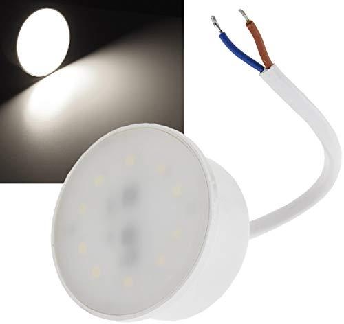 Módulo LED para lámparas empotrables planas, 3 W, 250 lúmenes, color blanco, repuesto para bombilla GU10 de 230 V, 50 x 24 mm, blanco neutro