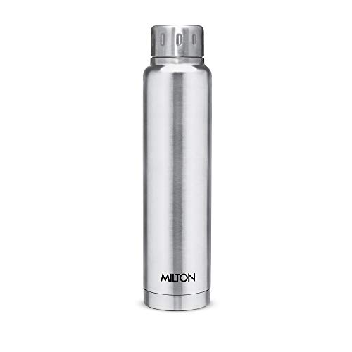 Milton Elfin 500 Thermosteel 24 Hours Hot and Cold Water Bottle, 500 ml, 1 Piece (Silver)
