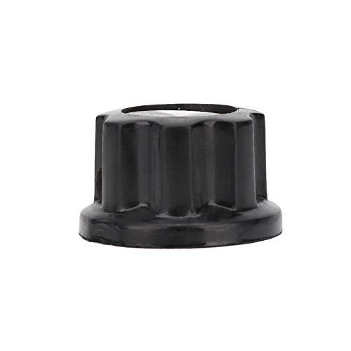 Interruptores Tapa de perillas, Perilla de potenciómetro fácil, Resto de mano de obra fina ABS de rayas antideslizantes para el hogar(23mm)