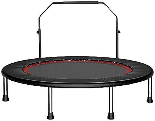 Faltbares Trampolin 40 Zoll mit verstellbarem Handlauf, für Gartentraining im Innenbereich Cardio-Training - Max. Belastung 440kg