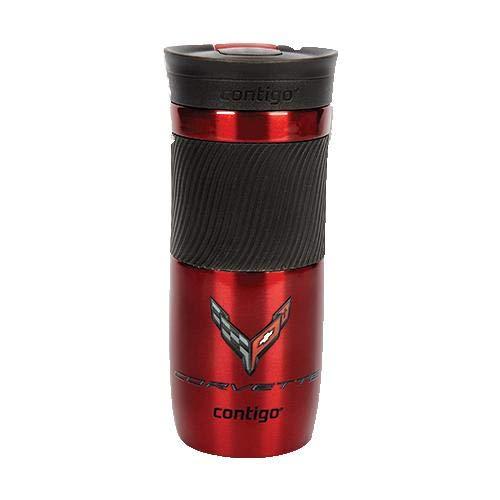 C8 Corvette Next Generation Tumbler Coffee Cup to-Go Mug 16 oz (Red)