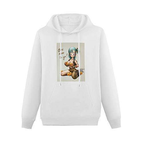 Sexy Bulma One More to Go Anime MangaHooded Digital Printed SweatshirtWhiteXL