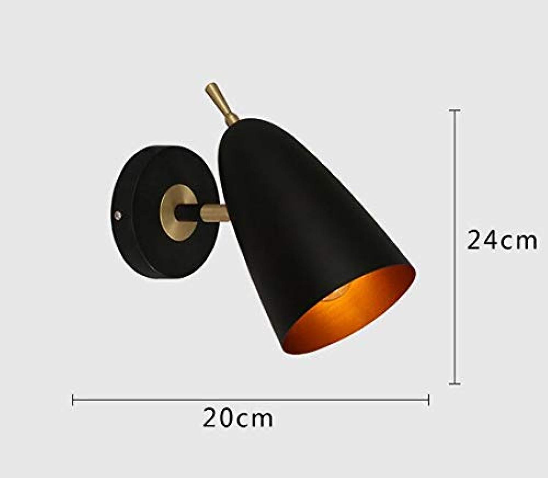 Nordic Wohnzimmer Wandlampe moderne minimalistische Persnlichkeit Macaron Schlafzimmer Nachtwandlampe, 1 Heads schwarz