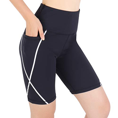 3W GRT Leggings Mujer Fitness, Leggings De Yoga para Mujer, Pantalones De Entrenamiento, Pantalón Corto Deportivo para Mujer Cintura Alta (Negro, M)