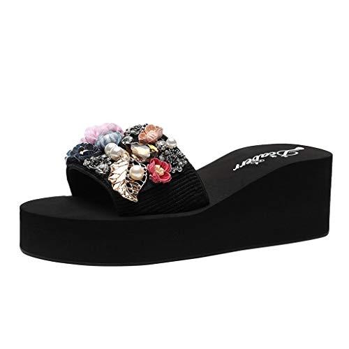 Luckycat Sandalias Mujer Zapatos Chanclas Acolchada para