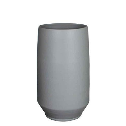 MICA Decorations Deko Vase Jordi Handgemacht Grau - H 50 x Ø 28 cm - Blumenvase - Bodenvase hoch - Hoher Übertopf Innen