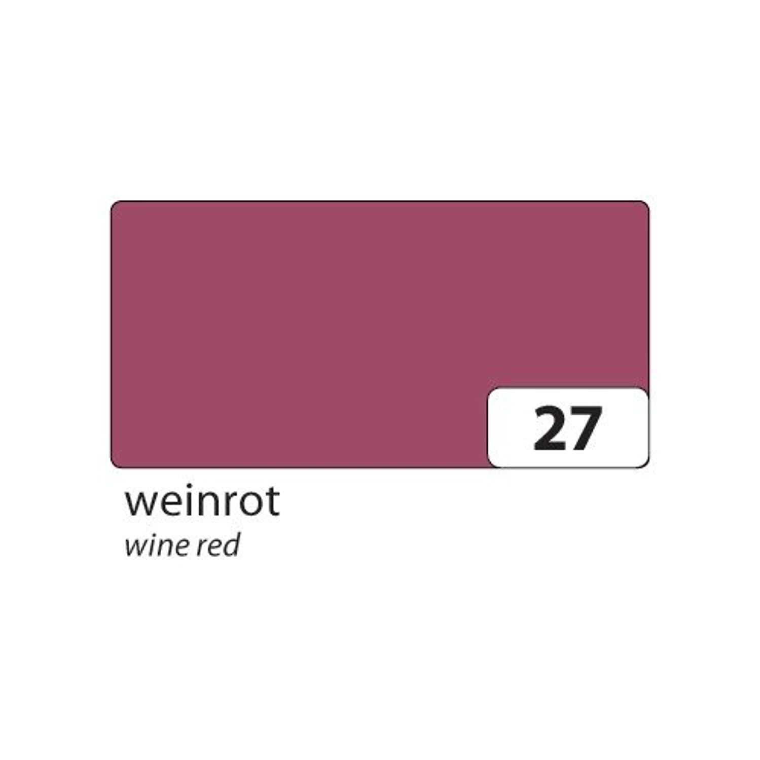 Folia Bringmann 6727?Coloured Paper 130?g/m2, 500?x 700?mm, Wine Red