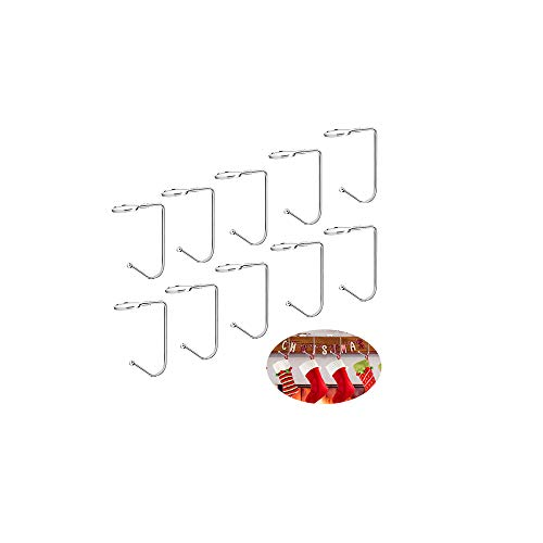 LATTCURE 10stk Weihnachtsstrumpf Halter Nikolausstrumpf Haken Kamin Anhänger Tisch Handtaschenhalter Handtaschen Halterung Antirutsch Taschenhalter für Taschen Christmas Stockings