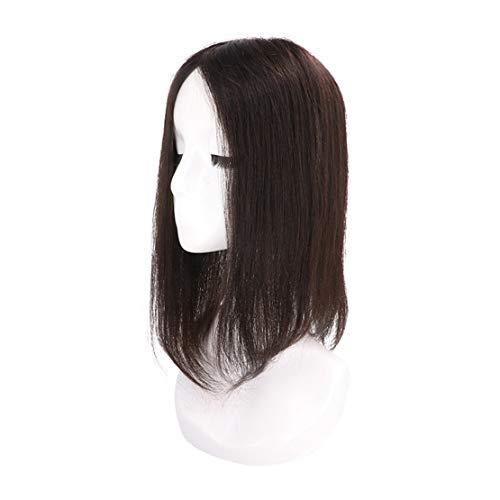 Yanamy Straight Remy Menselijk Haar Stuk Haar Toppers met Zijde Basis voor Vrouwen Clip in Dikke Kroon Haarstukken