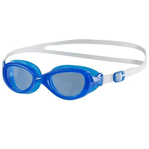 Speedo Futura Classic Junior Gafas de natación, Unisex niños, Transparente/Azul neón, One Size
