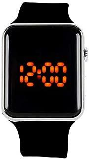 DGBR Digital Watch,Children's Watch Digital Children's DigitWal atch Waterproof Outdoor Sports LED Watch boy Girl Child Teenager … (Silver)