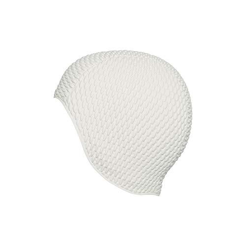 Fashy Damen Luftgefüllte Gummihaube Badehaube, Weiß, One Size
