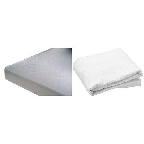 Cándido Penalba Protector de colchón Super, 75% algodón, 25% poliéster, Blanco, 135_x_190_cm + Penalba Super - Protector de colchón, Rizo Impermeable, 90 x 190/200 cm, Blanco