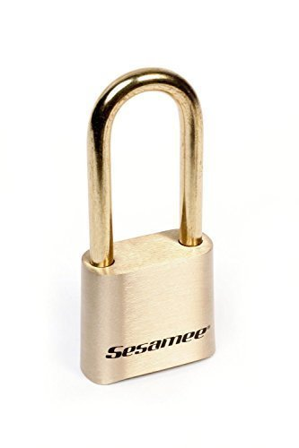 CCL Security Sesamee K0437 4 Dial Bottom Resettable Combination Brass Padlock with 2-1/4-Inch Shackle and 10,000 Potential Combinations - 5 Pack