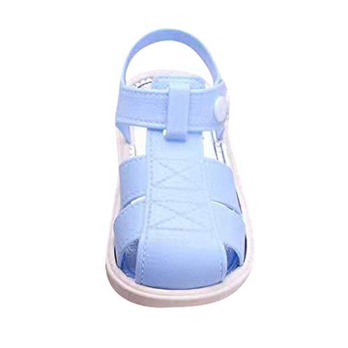 95sCloud Kinder Sandalen Kleinkind Schuhe Baby Jungen Mädchen Geschlossene Zehe Sommer Strand Sandalen Turnschuhe Laufschuhe Sportschuhe Outdoor Schuhe (Blau, 5.5-6Y)