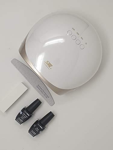 Kit semi-permanent Blush Italie Lampe LG LED 68 W Base Top Coat Lime Buffer