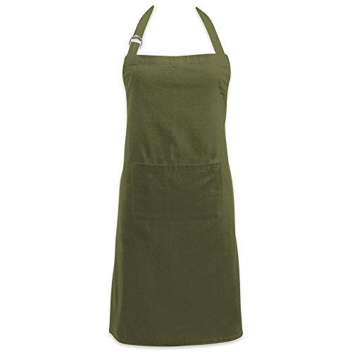 Product Image of the DII Adjustable Neck & Waist Ties with Front Pocket, 32x28 Apron Chino Chef Collection, Sage