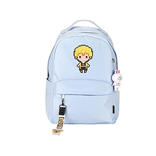 ZZGOO-LL Demon Slayer: Kimetsu no Yaiba Kamado Tanjirou/Agatsuma Zenitsu Anime Laptop Backpack Bag Travel Laptop Daypacks Bolso Ligero-A