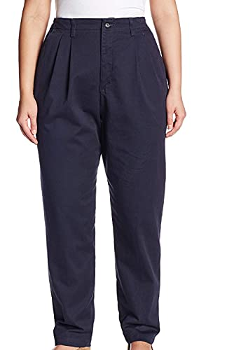 Lee Women's Plus-Size Relaxed Fit Side Elastic Pant, Navy, 20W Petite