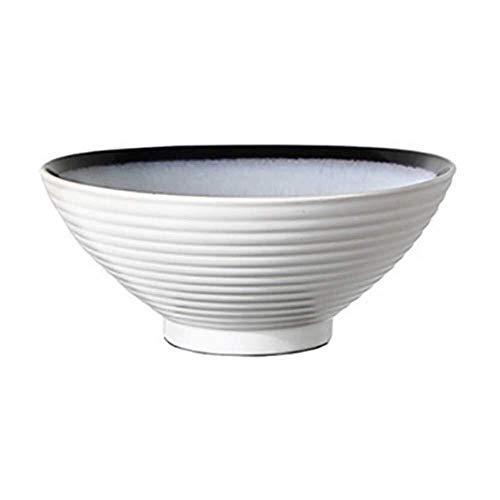 Tazón Tazón de cerámica, un tazón de fideos de casa, un tazón de ramen japonés, cuenco de la vendimia, tazón de fideos con carne, plato de sopa creativa vajillas hogar, tazón retro (Color : A)