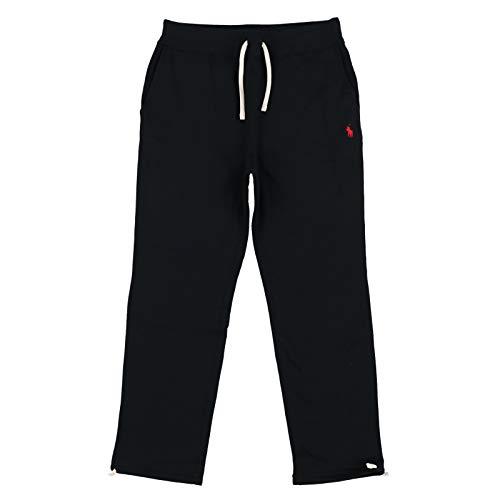 Polo Ralph Lauren Mens Fleece Lined Sweatpants (Black, red Pony)