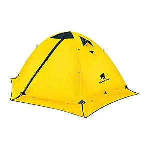 GEERTOP テント 2人用 ソロテント キャンプ テント ツーリングテント 冬用テント 軽量テント 防水 4シーズン スカート付き 二重層構造 PU5000MM耐水圧 バイク アウトドア 登山用 簡単設営
