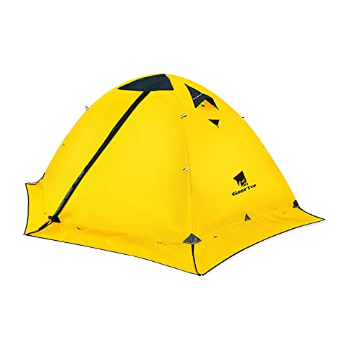 GEERTOP 2 Person Camping Tent Lightweight 4 Season Waterproof Double Layer All Weather Outdoor Survival Gear for Backpacking Hiking Travel - Easy Set Up