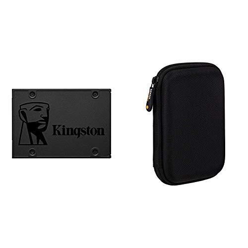 Kingston A400 SSD SA400S37/240G - Interne SSD (2.5 Zoll) SATA 240GB & Amazon Basics Schutzhülle für Externe Festplatten