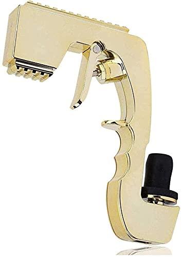 FXBFAG Tapón de vino con dispensador de vino de champán, botella de botella burbujeante, pistola de champán, para boda, fiesta, club nocturno y barra herramienta (dorado)