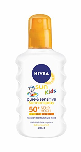 Nivea Sun Kids Pure & Sensitive Sonnenspray LSF 50+, 1er Pack (1 x 200 ml)