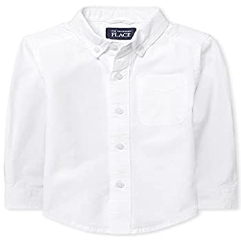 The Children s Place Baby Boys and Toddler Boys Long Sleeve Oxford Button Down Shirt White 18-24 MONTHS