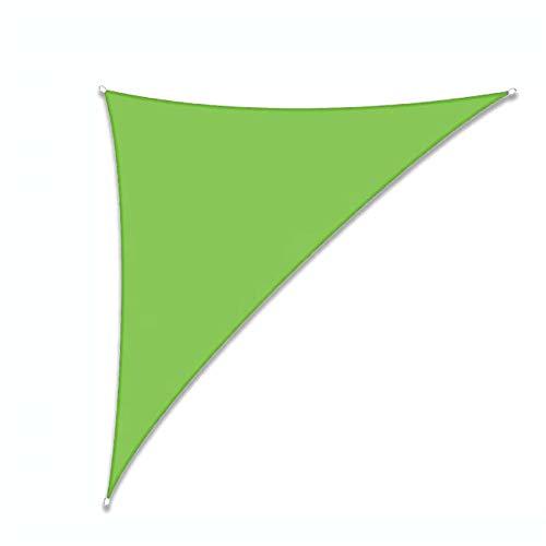 KLFSJD Toldo de vela triangular, impermeable, protección contra vela y protección UV para toldos al aire libre para patios suministrados (3 x 4 x 5 m, verde)