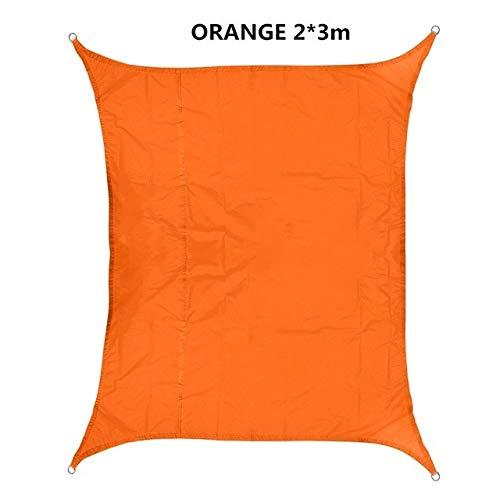 FUSSUF Shade 420D Impermeable Oxford rectángulo toldo de protección Solar Neto toldo al Aire Libre Sun Refugio Jardín Patio Piscina Toldo de Vela (Color : Orange 2X3m)