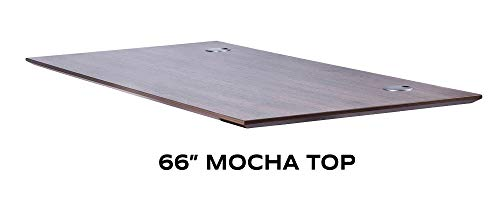 "ApexDesk Flex Pro Series 66"" Tabletop Only (Rectangular Top - 66x30, Mocha)"
