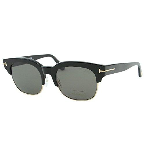 Tom Ford Harry-02 FT0597 01D Men Black Polarized Square Sunglasses