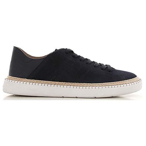 Hogan h420 Herren Men Shoes Sneaker Schuhe Lederschuh Wildleder Leather Blau - blau - Größe: 6