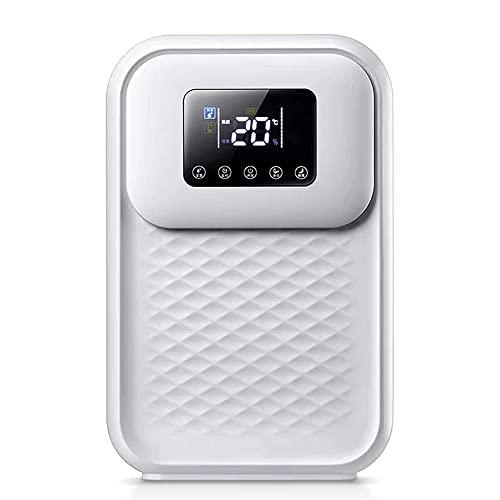 HBBOOI Deshumidificador de 500 ml, deshumidificador pequeño, portátil, Compacto, Ultra silencioso, deshumidificador doméstico para Armario de baño de 30 Metros Cuadrados en el sótano