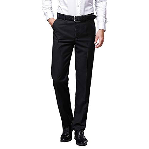 FRAUIT Pantaloni Uomo Elegante Taglie Forti Plus Size Oversize Pantalone Uomini Casual Eleganti Slim Fit Pantaloni da Abito Pantaloni da Smoking Ragazzo