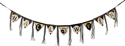 Primitives by Kathy Pennant Banner Garland, 60-Inches, Halloween