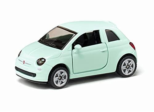 siku 1453, Fiat 500, Spielzeugauto für Kinder, Metall/Kunststoff, Mint, Bereifung aus Gummi, Öffenbare Türen