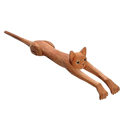 WHAT ON EARTH Funny Basswood Cat Back...