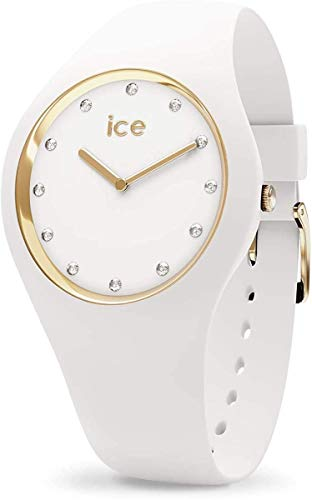 Ice-Watch - ICE cosmos White Gold - Weiße Damenuhr mit Silikonarmband - 016296 (Medium)