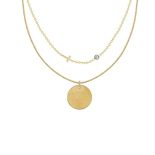 Necklace,Women Necklace Fashion Pendant Clavicle Chain Temperament Neck Chain Friend Gift (Golden)