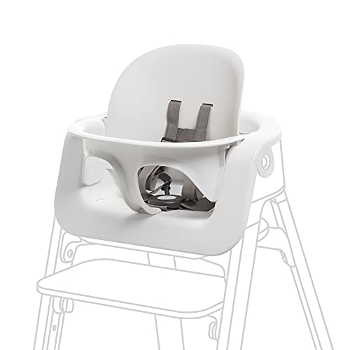 Stokke Steps Baby Set, White - Transform Stokke Steps Into Comfortable High Chair - Suitable for Baby from 6 Months - Includes 5-Point Safety Harness - Tool Free, Adjustable & Ergonomic