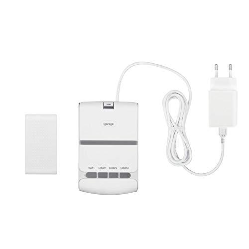 Contrôleur douvre-porte de garage intelligent WiFi,interrupteur de porte à enroulement,minuterie douverture de commande vocale à distance dapplication,Compatible avec Alexa Google Home (prise UE)