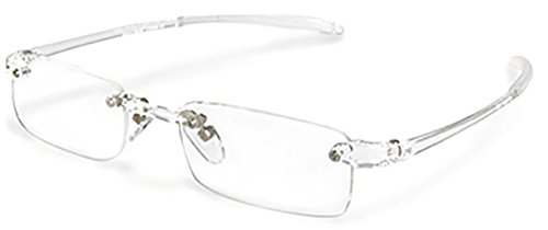 OPTX 20/20 Ecoclear Oxygen Rimless Reading Glasses (with Anti-reflective Coating) +200 (Clear)