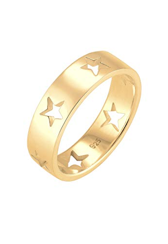 Elli Ring Damen Sterne Astro Cut Out in 925 Sterling Silber
