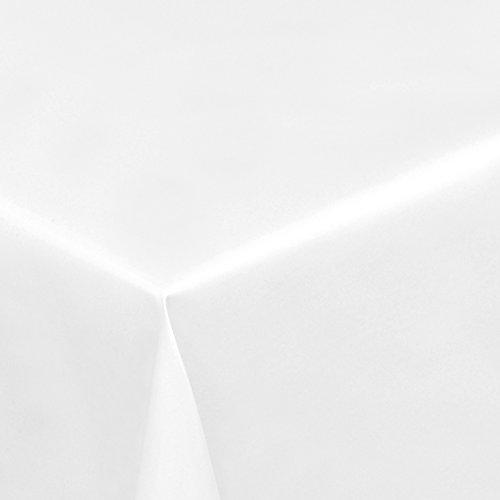 Lackfolie Weiss · Eckig 140x180 cm · Breite 140 cm - Länge wählbar· - abwaschbare Party Tischdecke Wachstuch