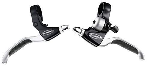 Tektro Poignée de frein avec sonnette V-Brakes pour femme en aluminium noir/argenté.