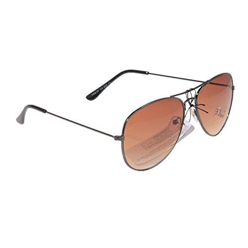 Pilotenbrille Sonnenbrille Fliegerbrille Pornobrille mit Federscharnier NICHT verspiegelt (Klar) PBS07